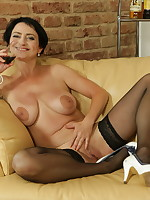 Housewife getting horny after a nice wine
